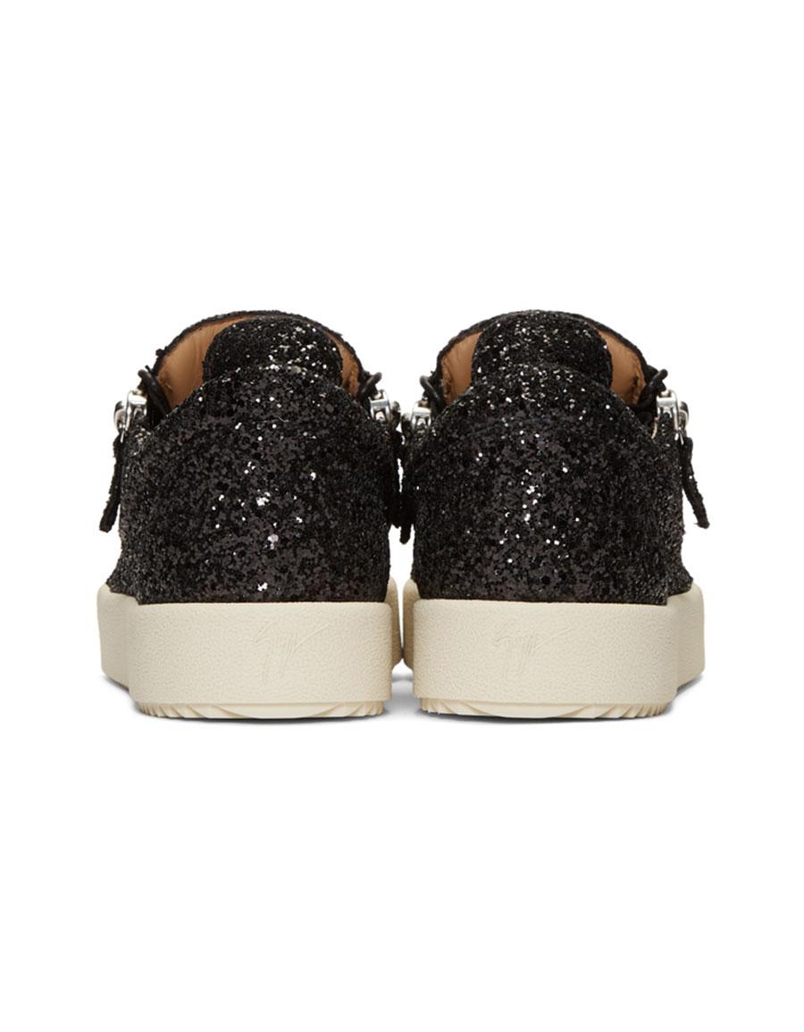 GIUSEPPE ZANOTTI Black Glitter May London Sneakers