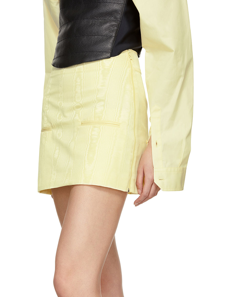 MARINE SERRE Yellow Cornerstones Miniskirt