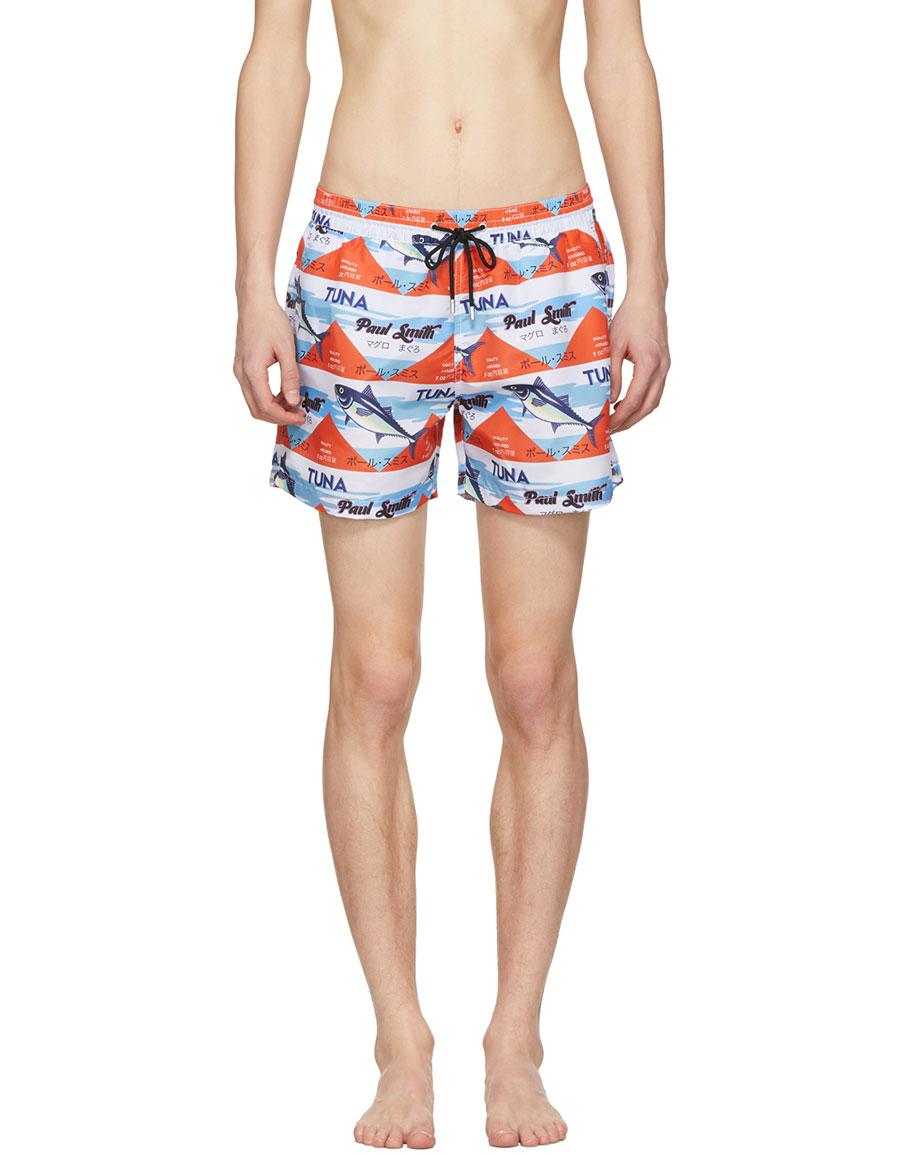PAUL SMITH Multicolor Mackerel Can Swim Shorts