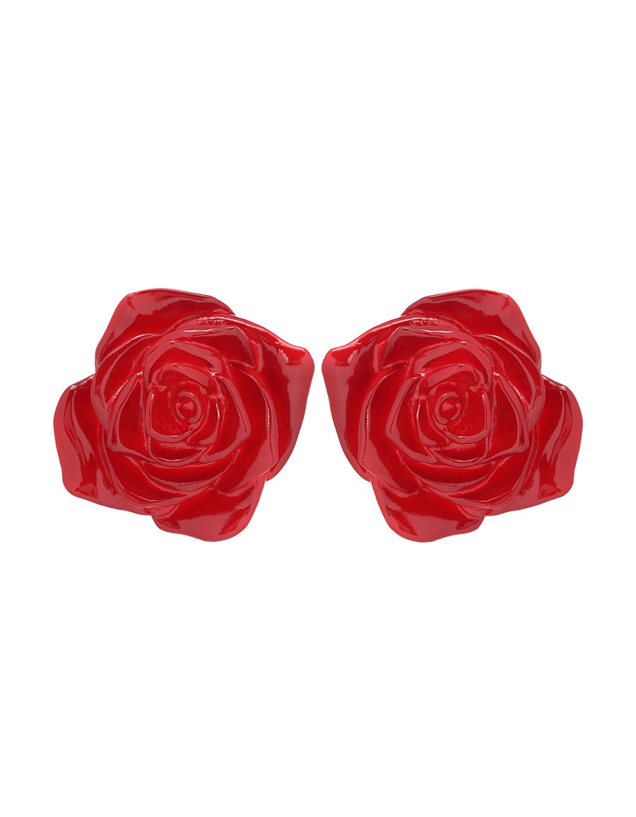 UNDERCOVER Resin rose earrings