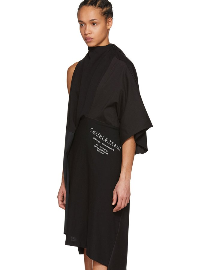 BALENCIAGA Black 'Chaîne & Trames' Dress