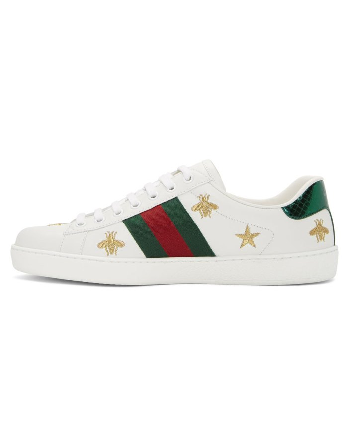 GUCCI White Bee & Star New Ace Sneakers