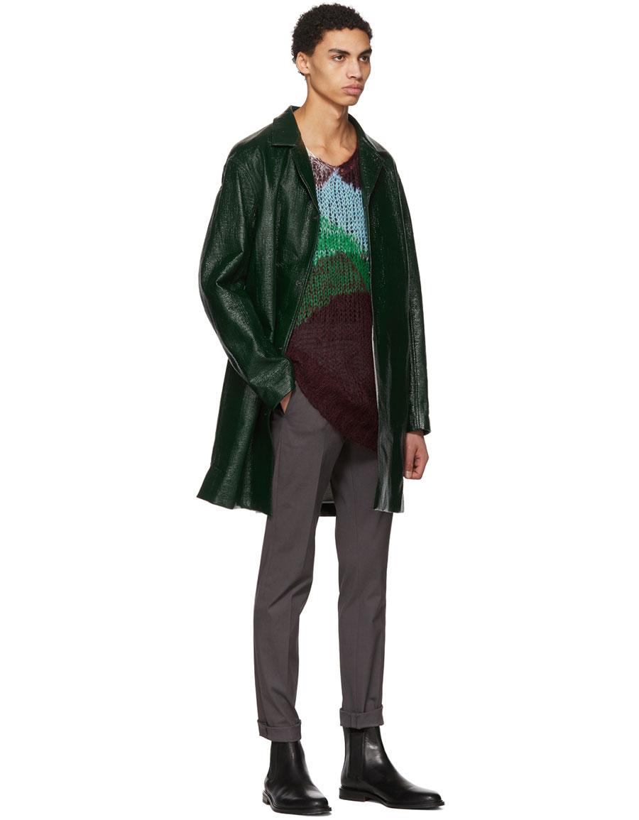 JIL SANDER Multicolor Oversized Mohair Crewneck Sweater