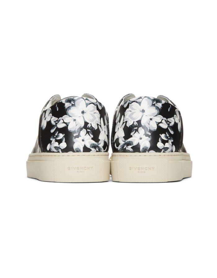 GIVENCHY Black & Grey Urban Street Floral Sneakers