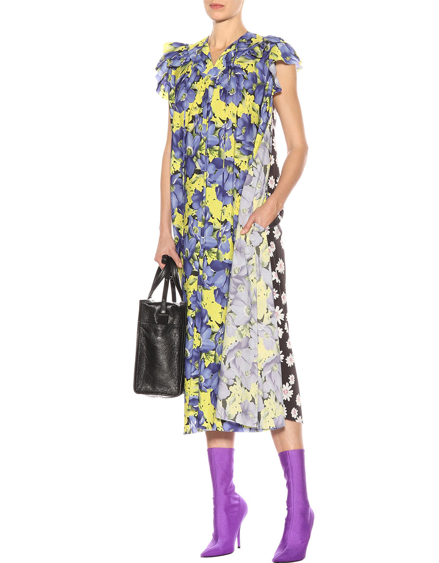 BALENCIAGA Floral printed midi dress