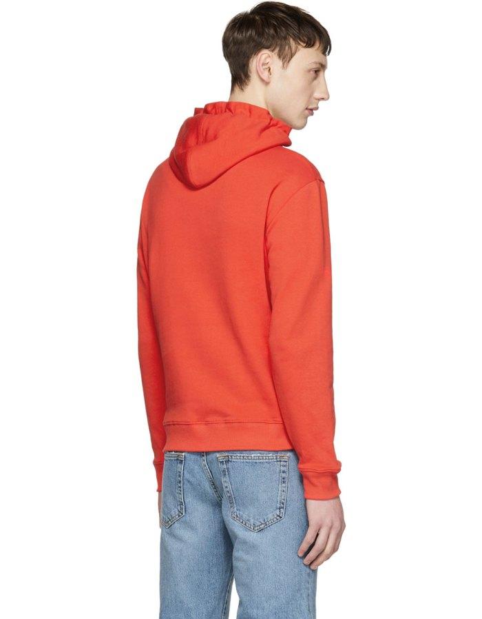 SAINT LAURENT Red Contrast Hoodie