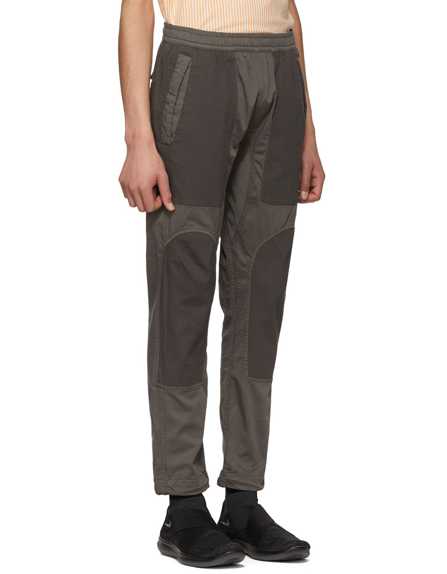 STONE ISLAND Grey Panelled Trousers