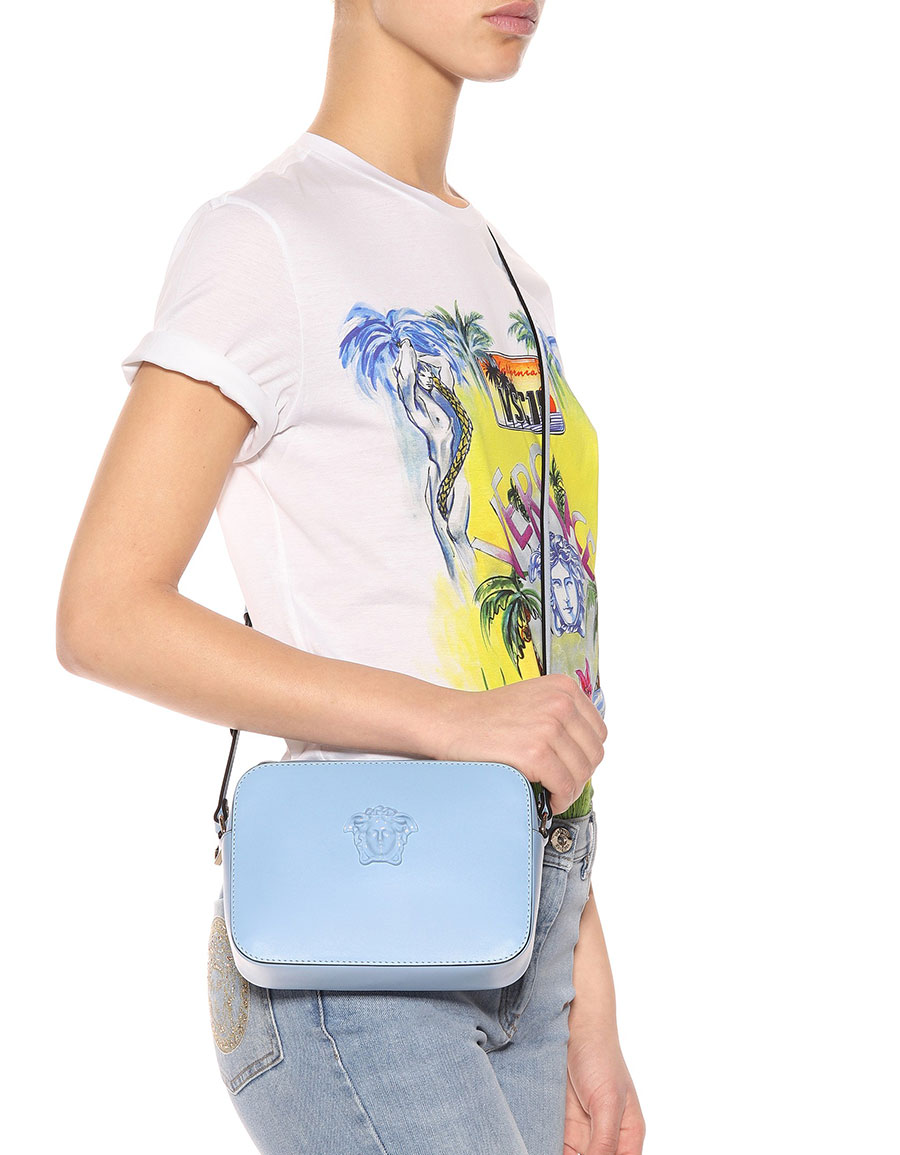VERSACE Palazzo leather shoulder bag