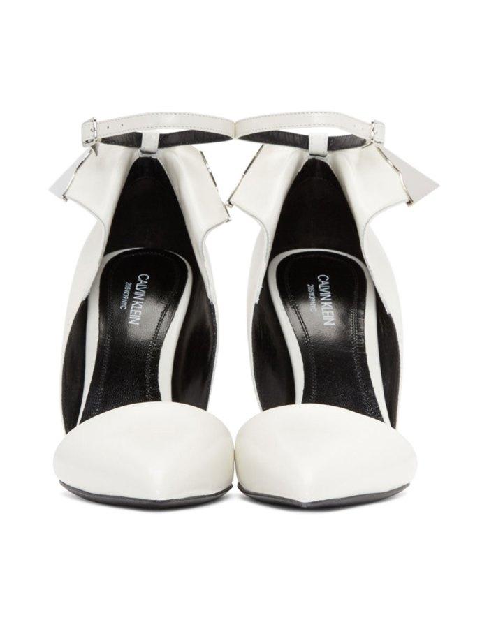 CALVIN KLEIN White Kadence Sandals
