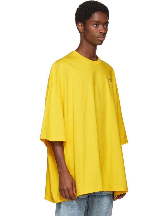 1a470f253f67 BALENCIAGA Yellow 'Power of Dreams' Big Fit T-Shirt · VERGLE