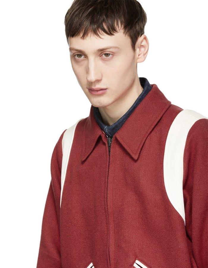 VISVIM Reversible Red Vintage Troupe Bomber Jacket