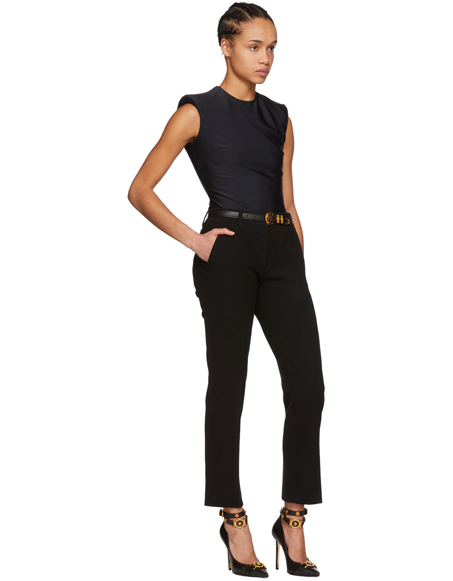 VERSACE Black Sleeveless Bodysuit