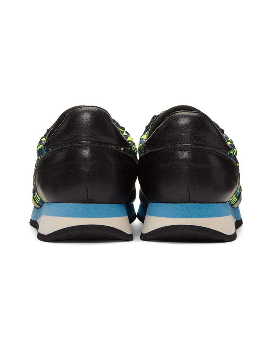 COMME DES GARÇONS Green Woven Hologram Sneakers
