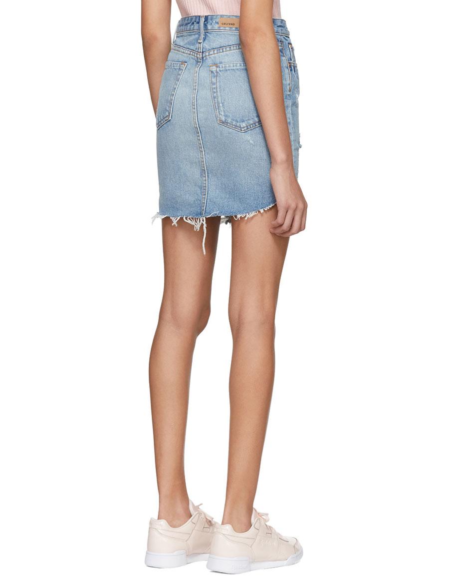 GRLFRND Blue Rhoda Denim Miniskirt