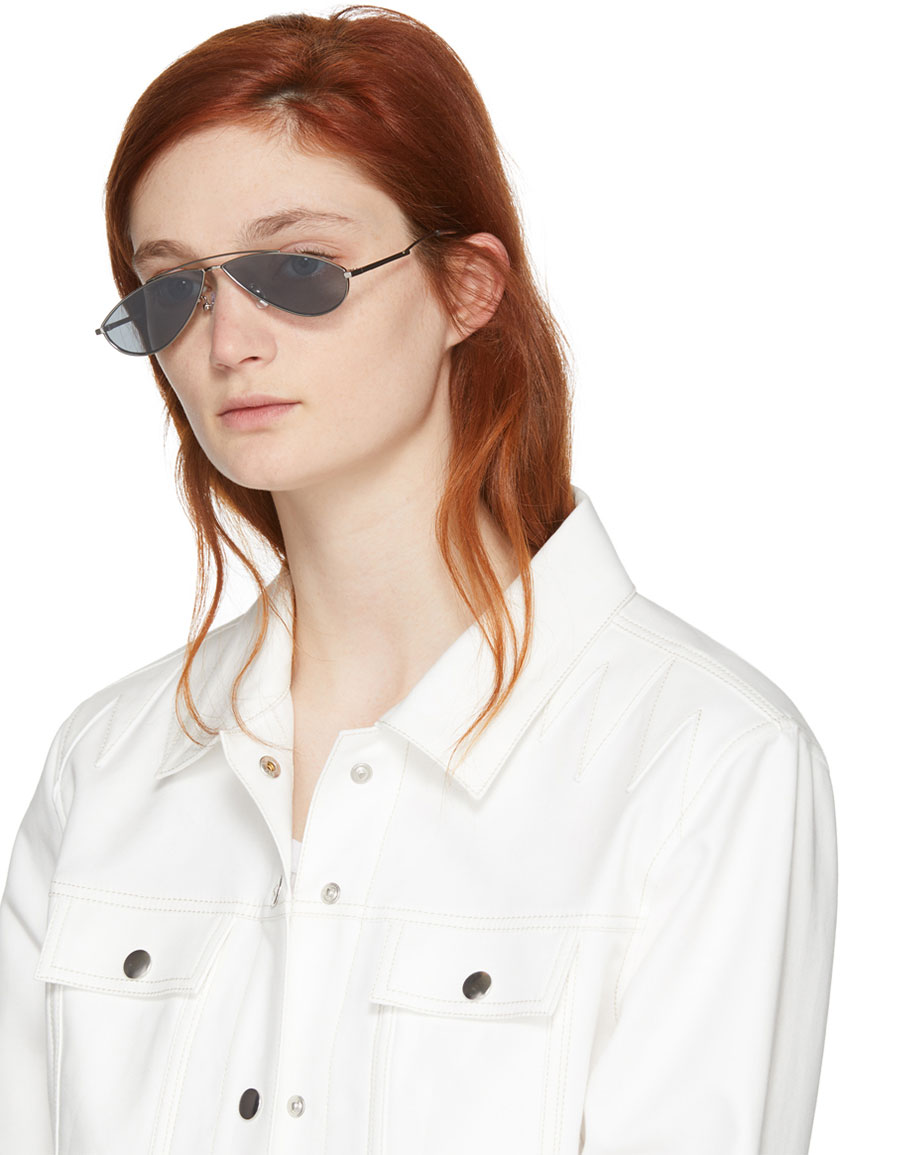 GENTLE MONSTER Silver Kujo Sunglasses