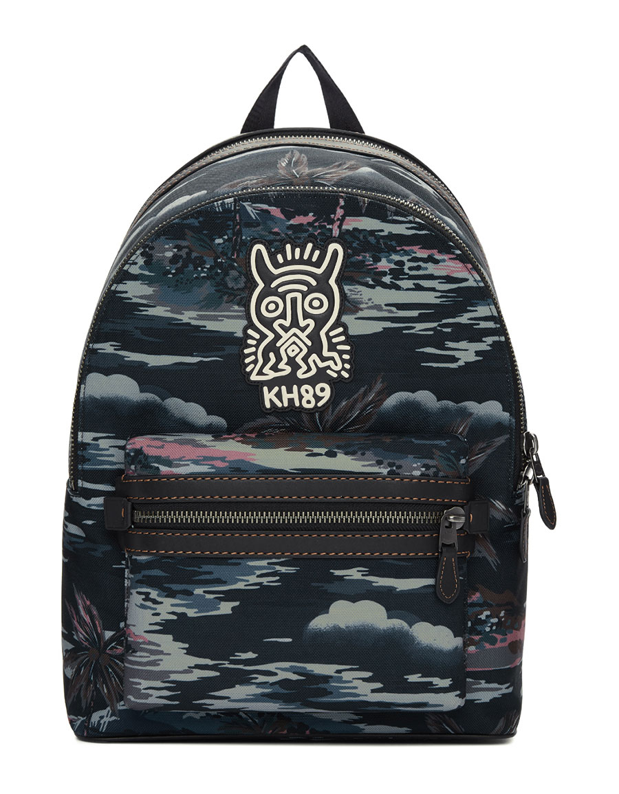 COACH 1941 Black Keith Haring Edition Academy Backpack