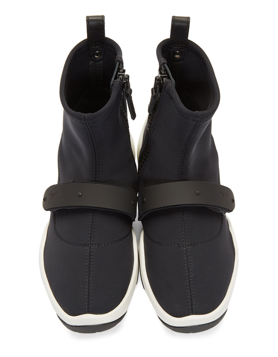 GIUSEPPE ZANOTTI Black Carlito Stretch High Top Sneakers