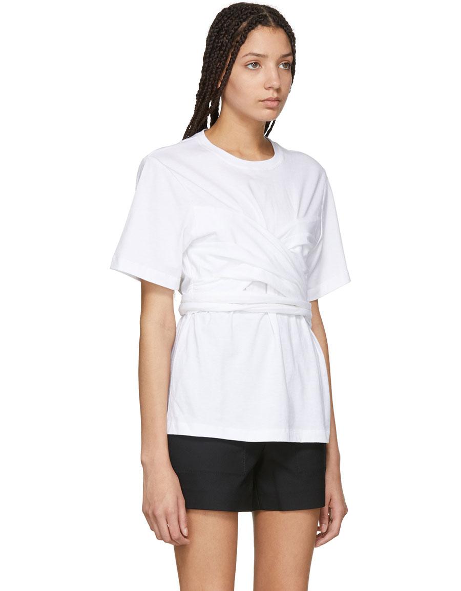 PROENZA SCHOULER White Wrapped T Shirt