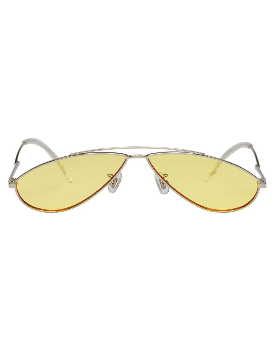 GENTLE MONSTER Silver & Yellow Kujo Sunglasses