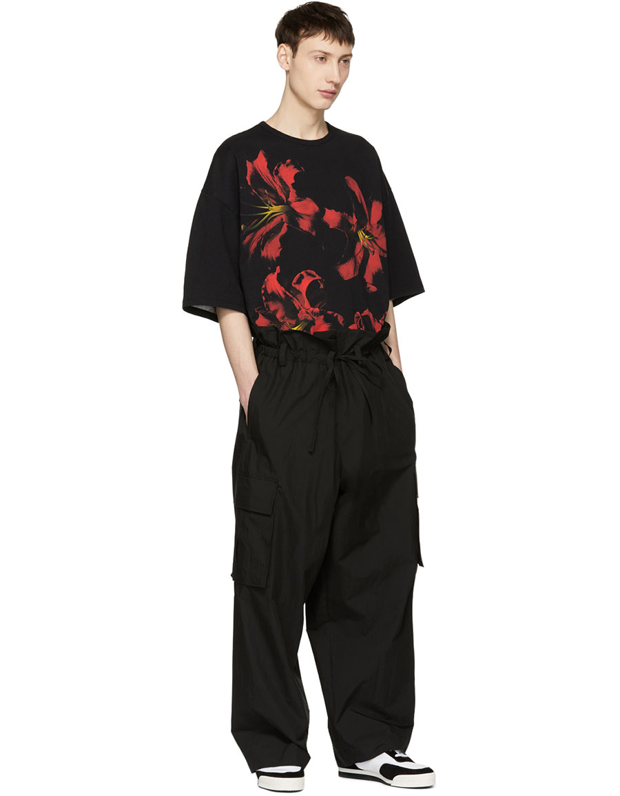 LAD MUSICIAN Black T Cloth Lilly Super Big T Shirt
