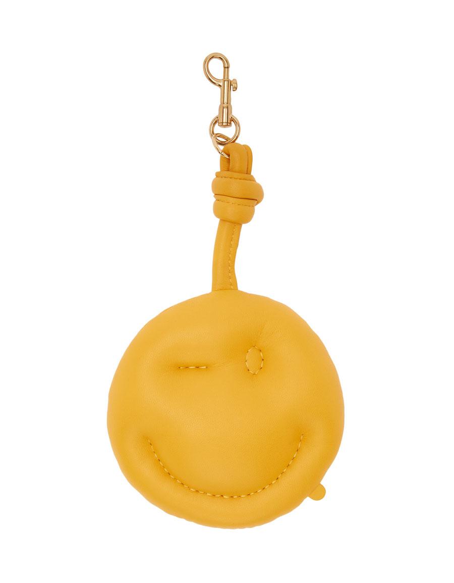 ANYA HINDMARCH Yellow Chubby Charm Wink Keychain