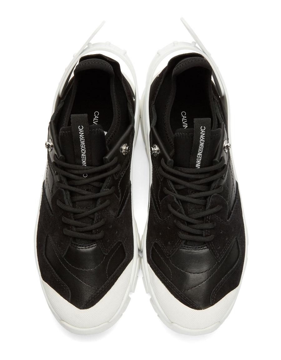 CALVIN KLEIN Black & White Carlos 10 Sneakers