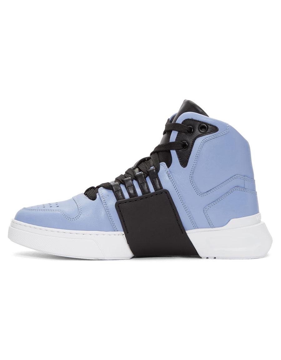 VERSACE Blue Medusa High Top Sneakers