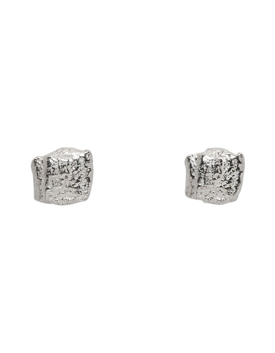 PEARLS BEFORE SWINE Silver Forged Stud Earrings