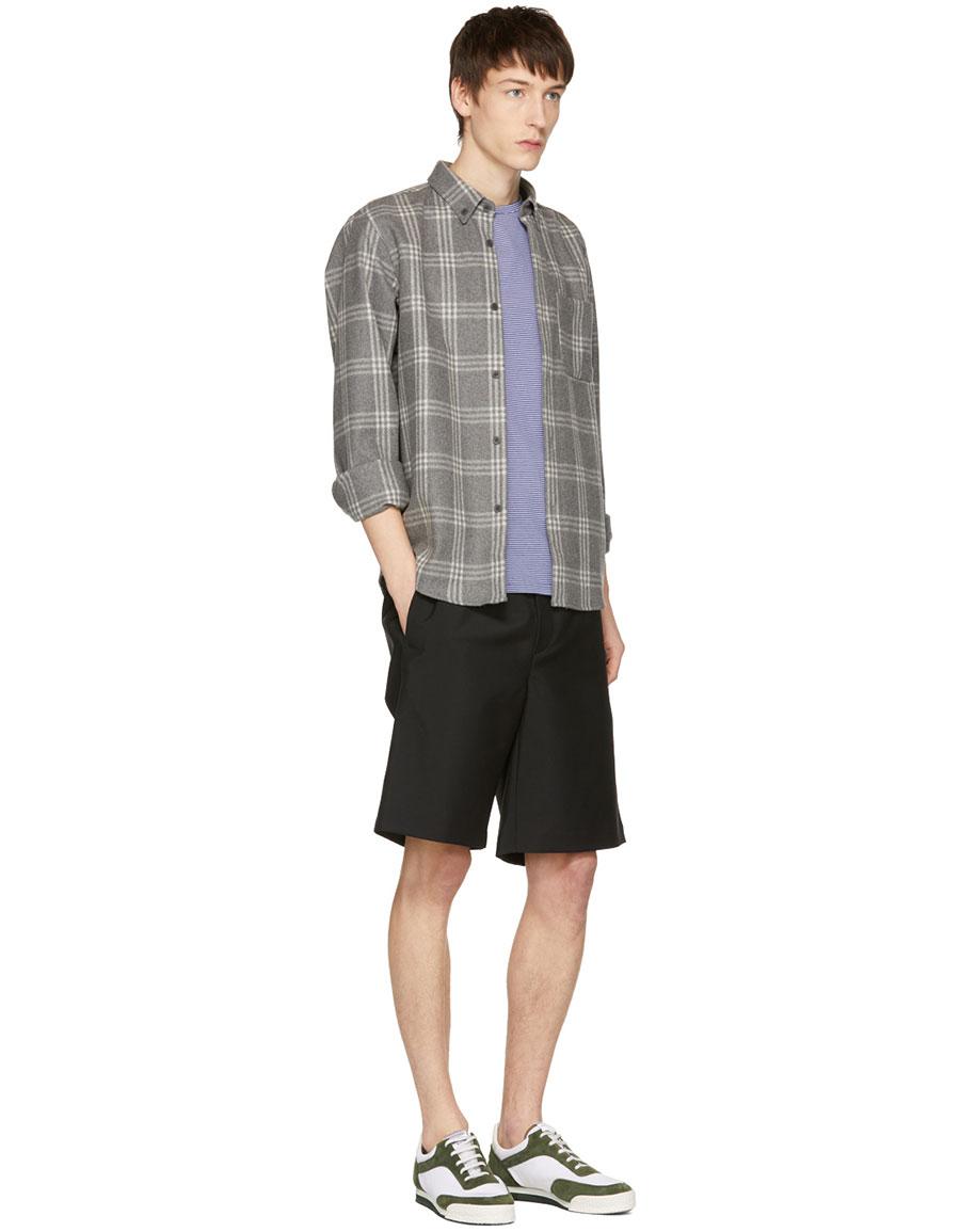 A.P.C. Blue & White Striped Laurent T Shirt