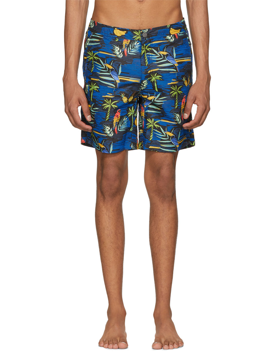 ONIA Black Island Convo Calder Swim Shorts