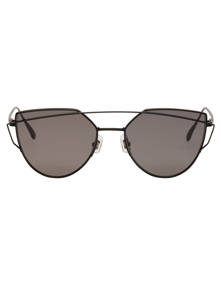 GENTLE MONSTER Black Love Punch Sunglasses