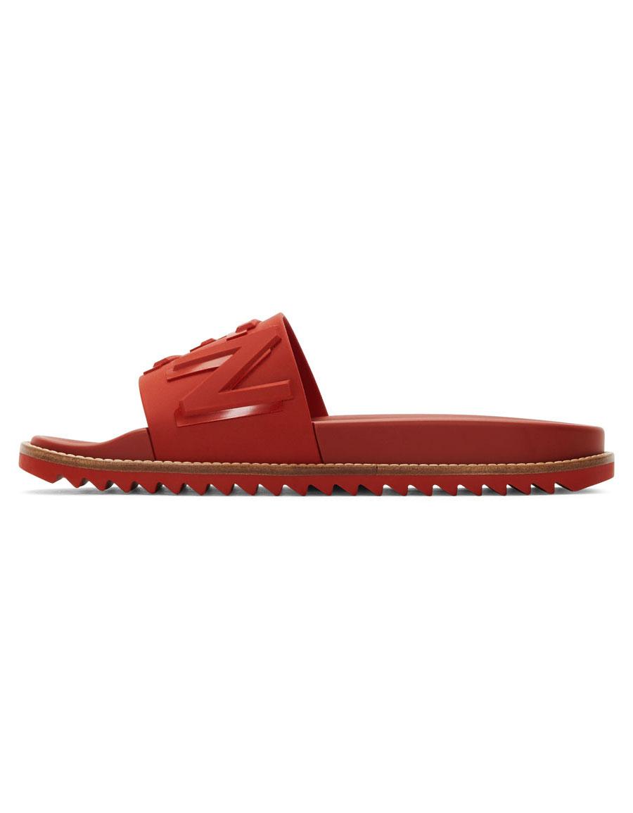 FENDI Red 'Fendi Vocabulary' Sandals