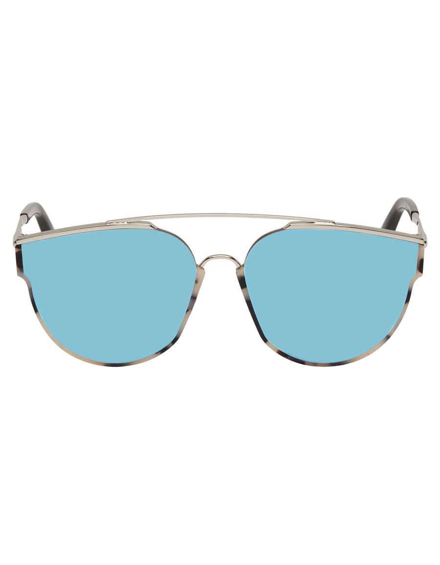 GENTLE MONSTER Silver & Tortoiseshell Loe Sunglasses