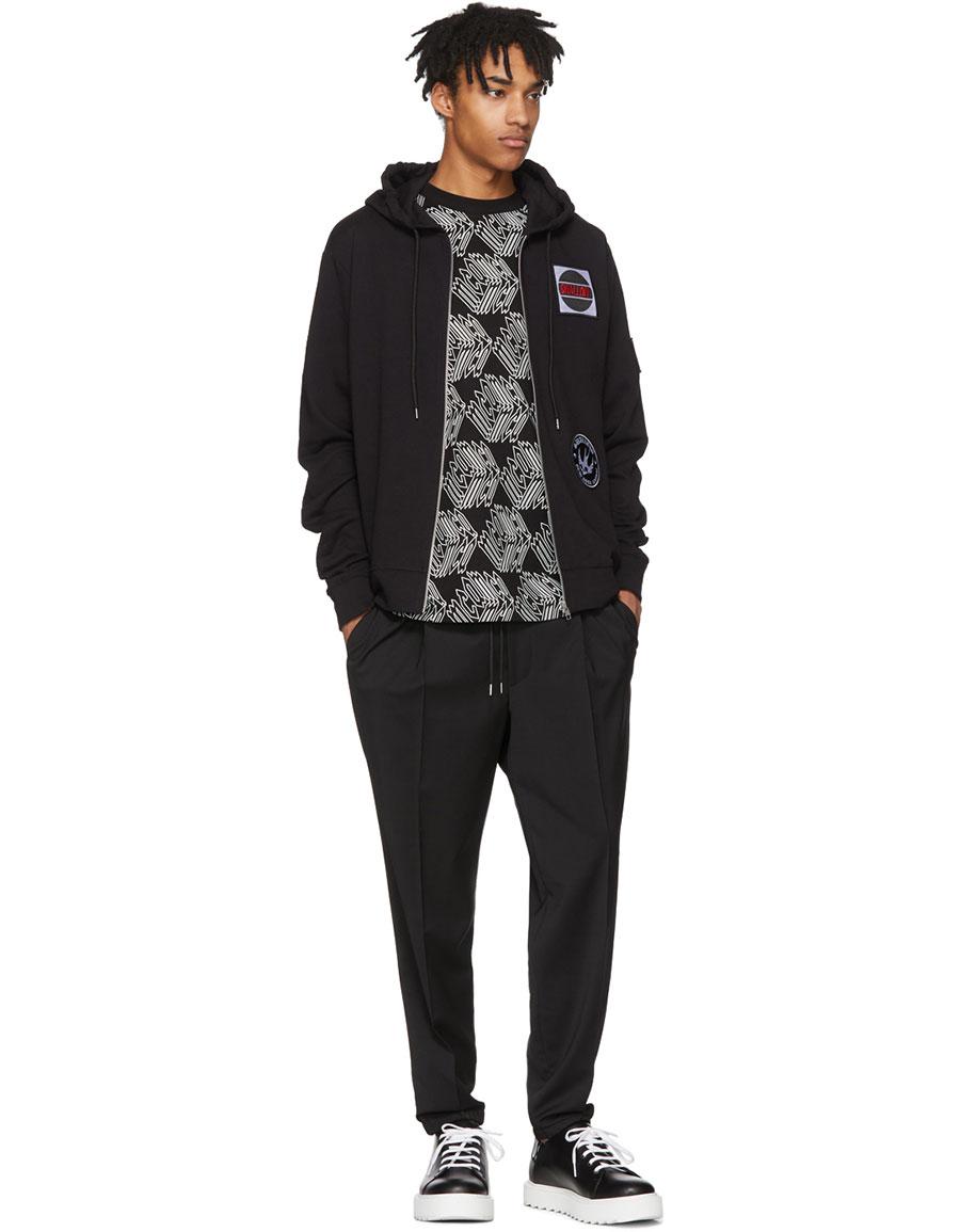 ALEXANDER MCQUEEN Black & White All Over McQ Cube T Shirt