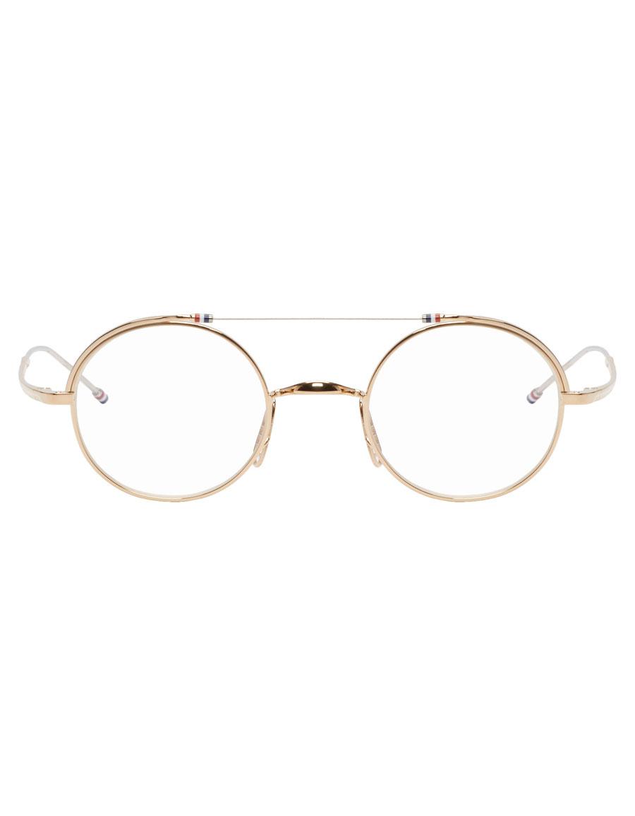 THOM BROWNE Gold TBX910 01 Glasses