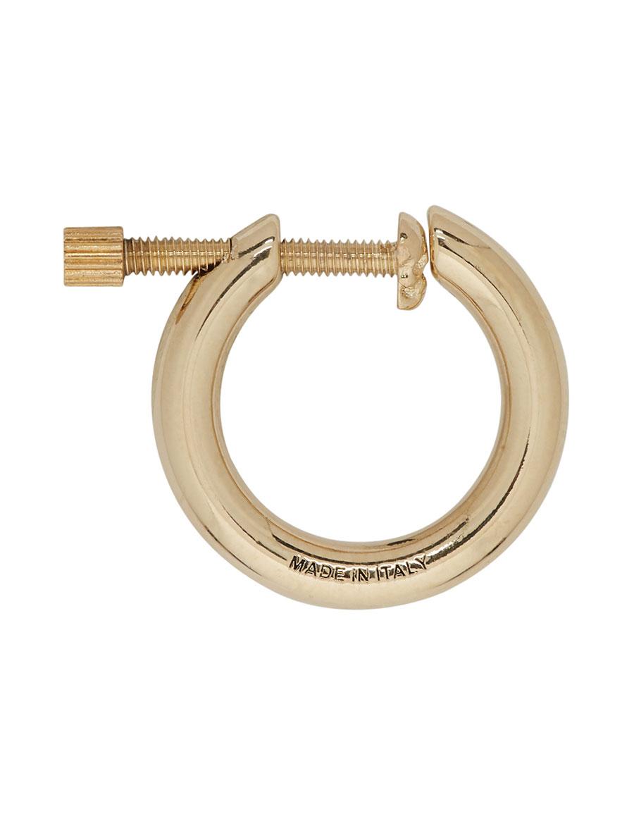 ALEXANDER MCQUEEN Gold Hoop Screw Earring
