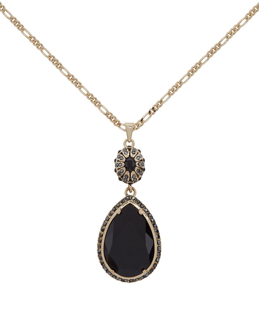 ALEXANDER MCQUEEN Gold Long Jewelled Necklace