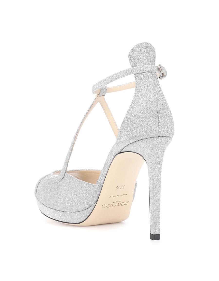 JIMMY CHOO Fawne 100 glitter sandals