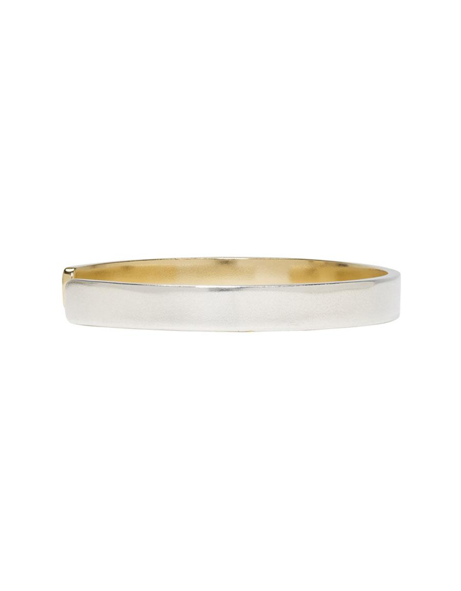 MAISON MARGIELA Silver & Gold Two Tone Bracelet