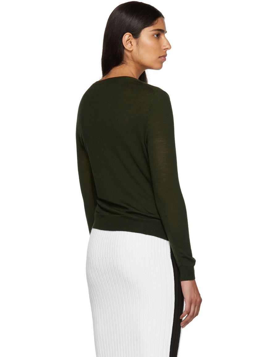 ALTUZARRA Green Minamoto Crewneck Sweater