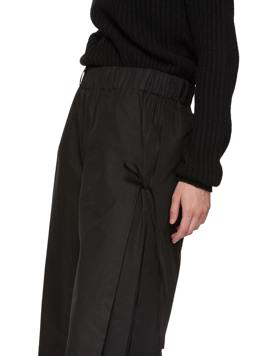 CRAIG GREEN Black Layered Track Trousers