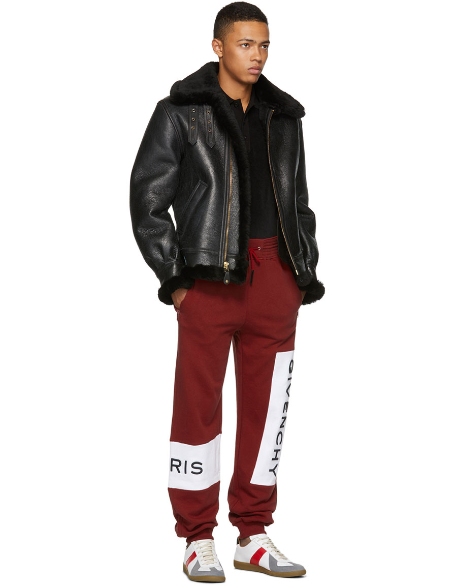 GIVENCHY Red & White Logo Jogger Sweatpants