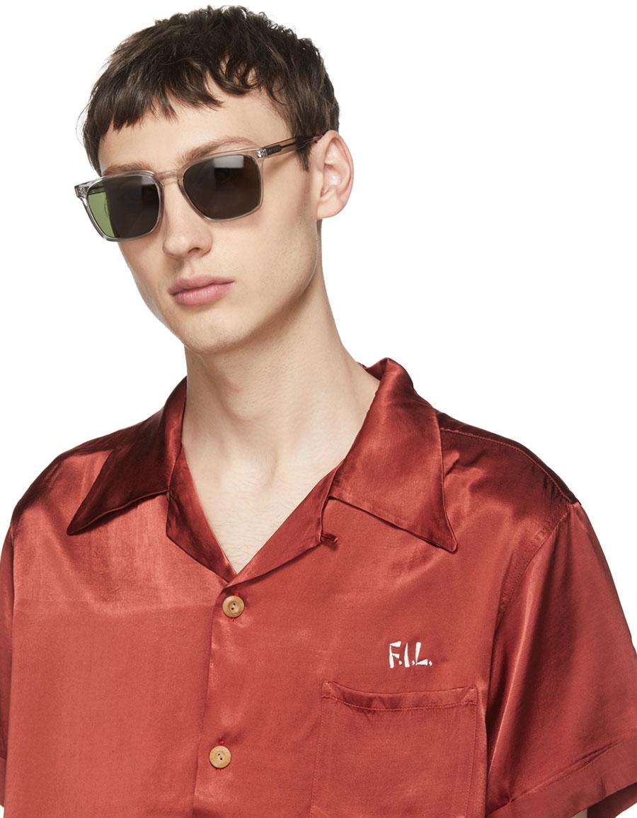 RAEN Grey Transparent Pierce Sunglasses
