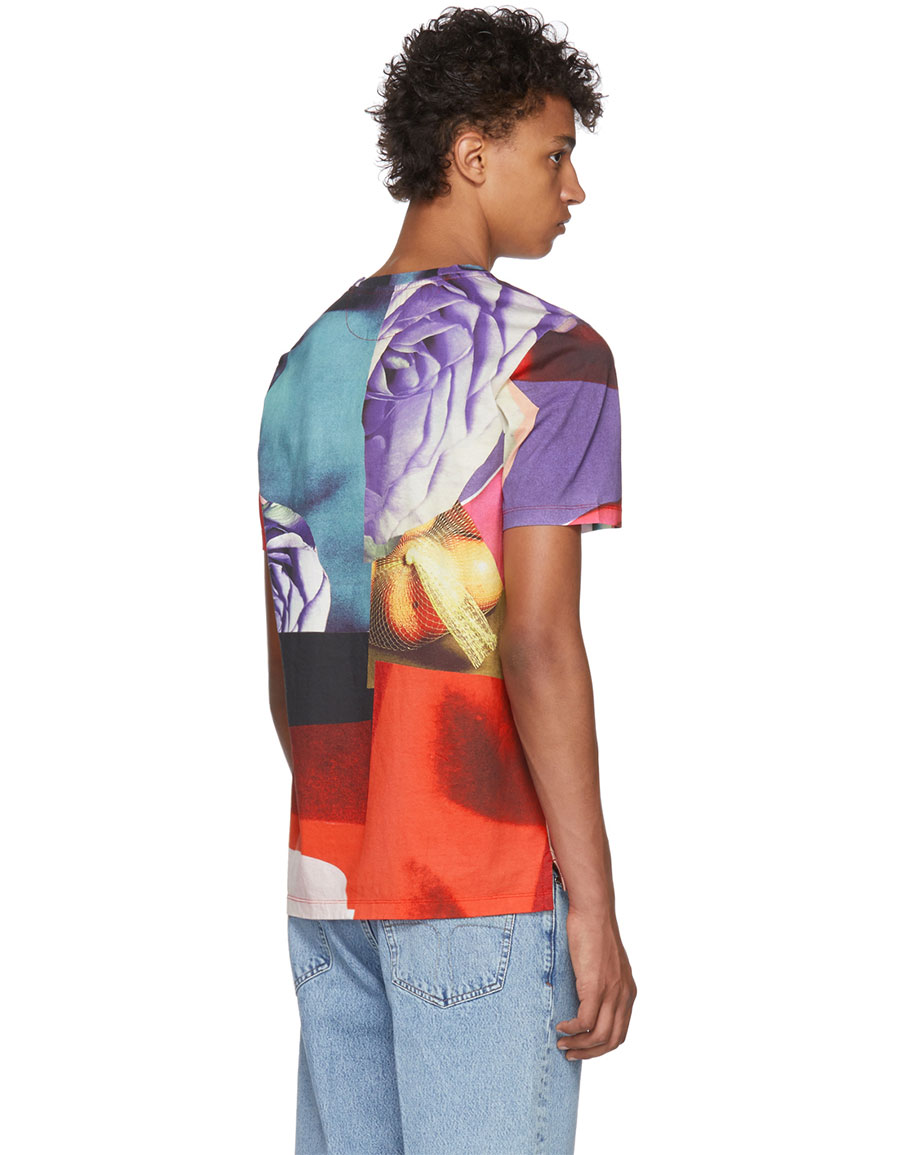 PAUL SMITH Multicolor All Over Rose T Shirt