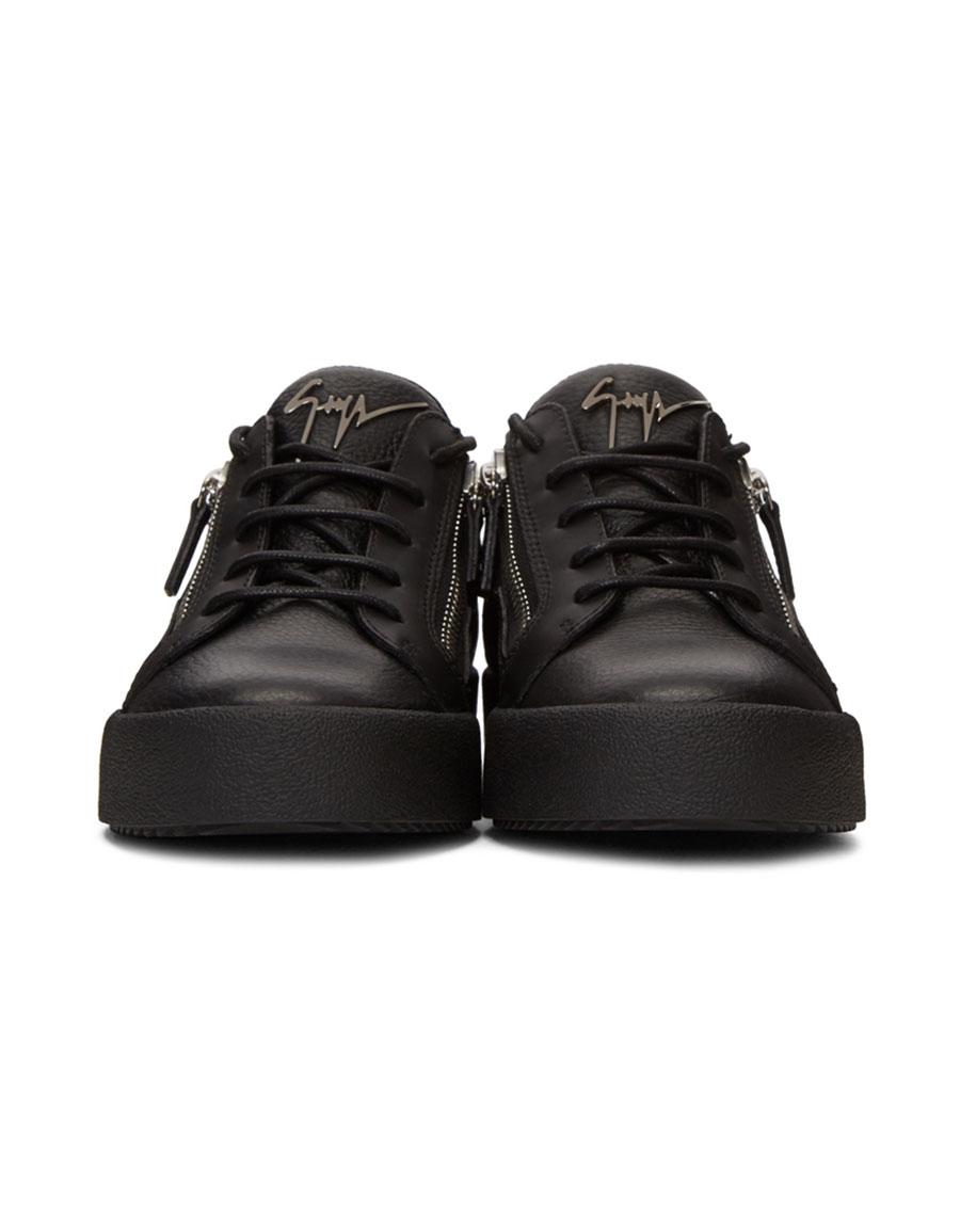 GIUSEPPE ZANOTTI Black May London Gigas Sneakers