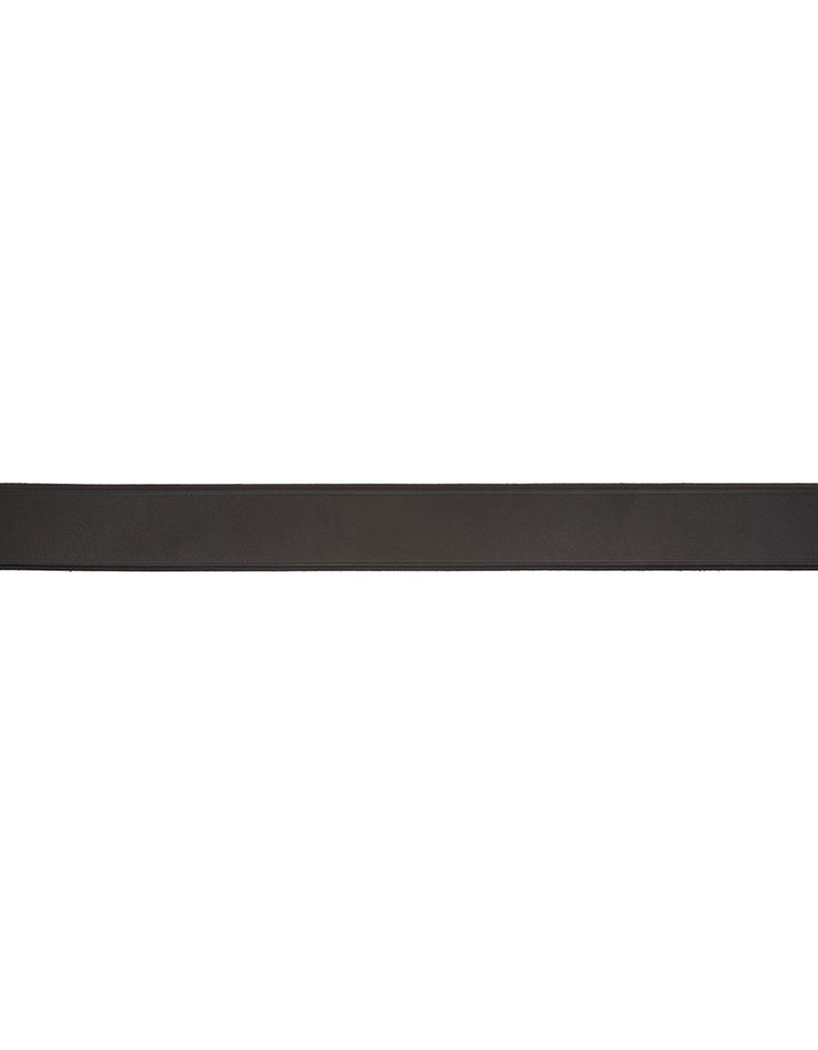 PRADA Black Leather Logo Belt