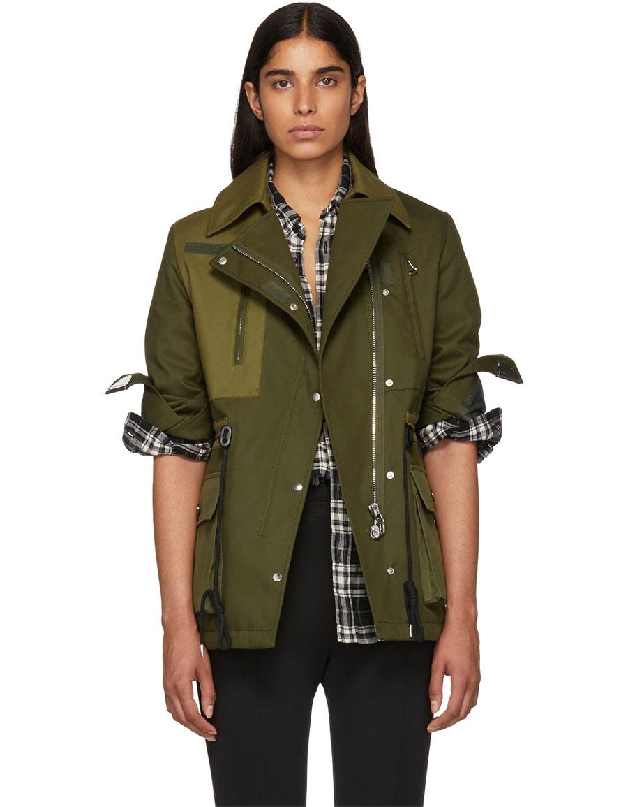 ALTUZARRA Green Chet Jacket