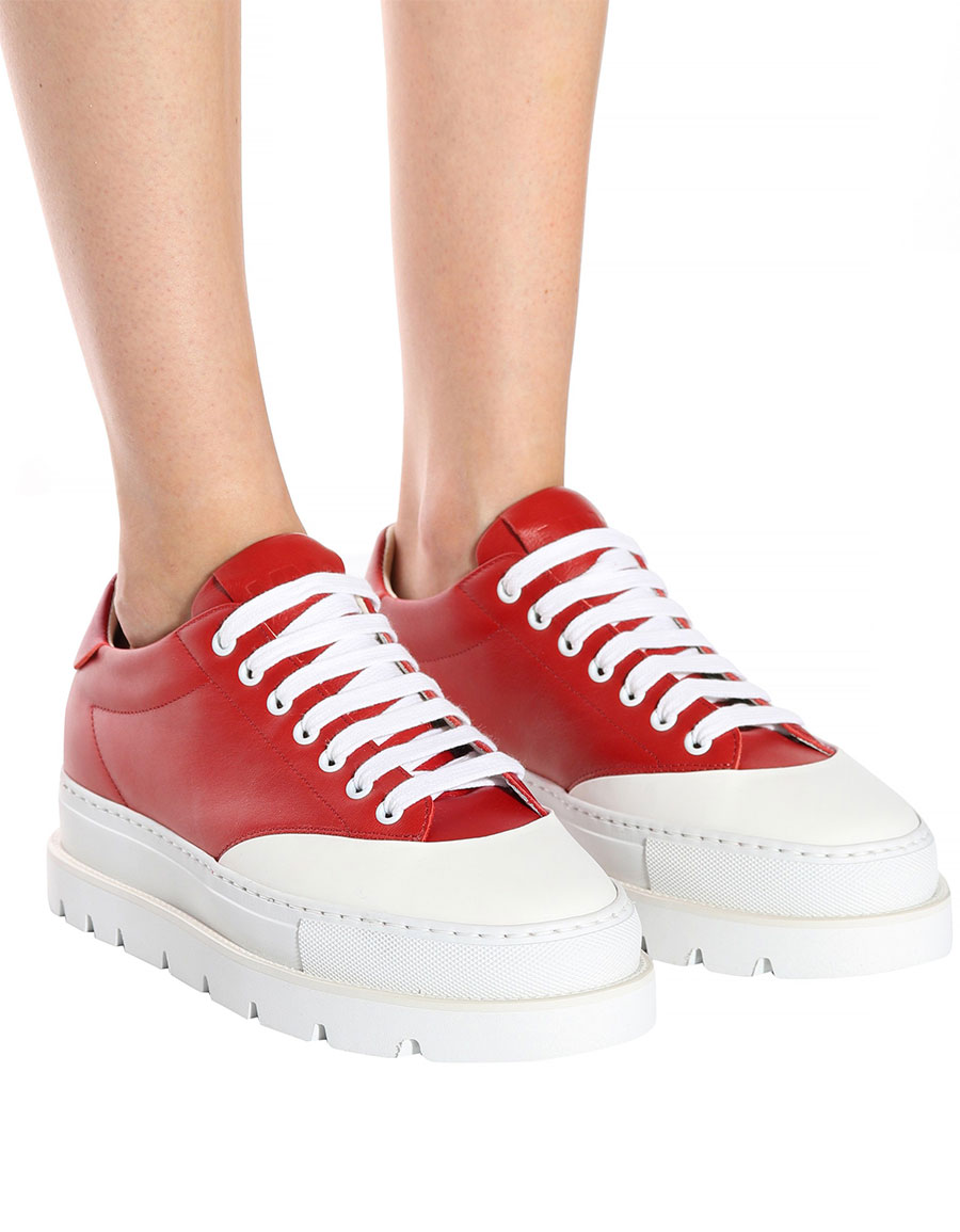MAISON MARGIELA Leather platform sneakers