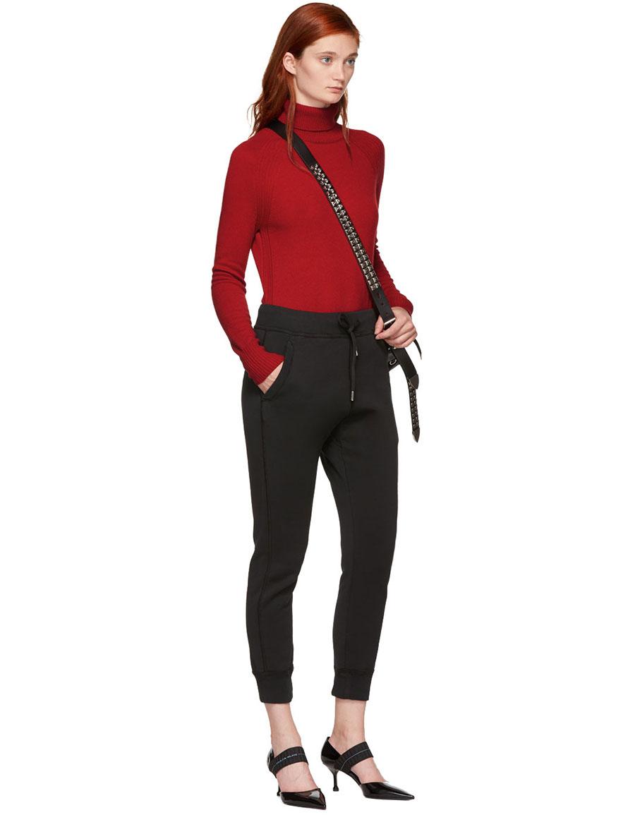 PRADA Black Patent D'Orsay Heels