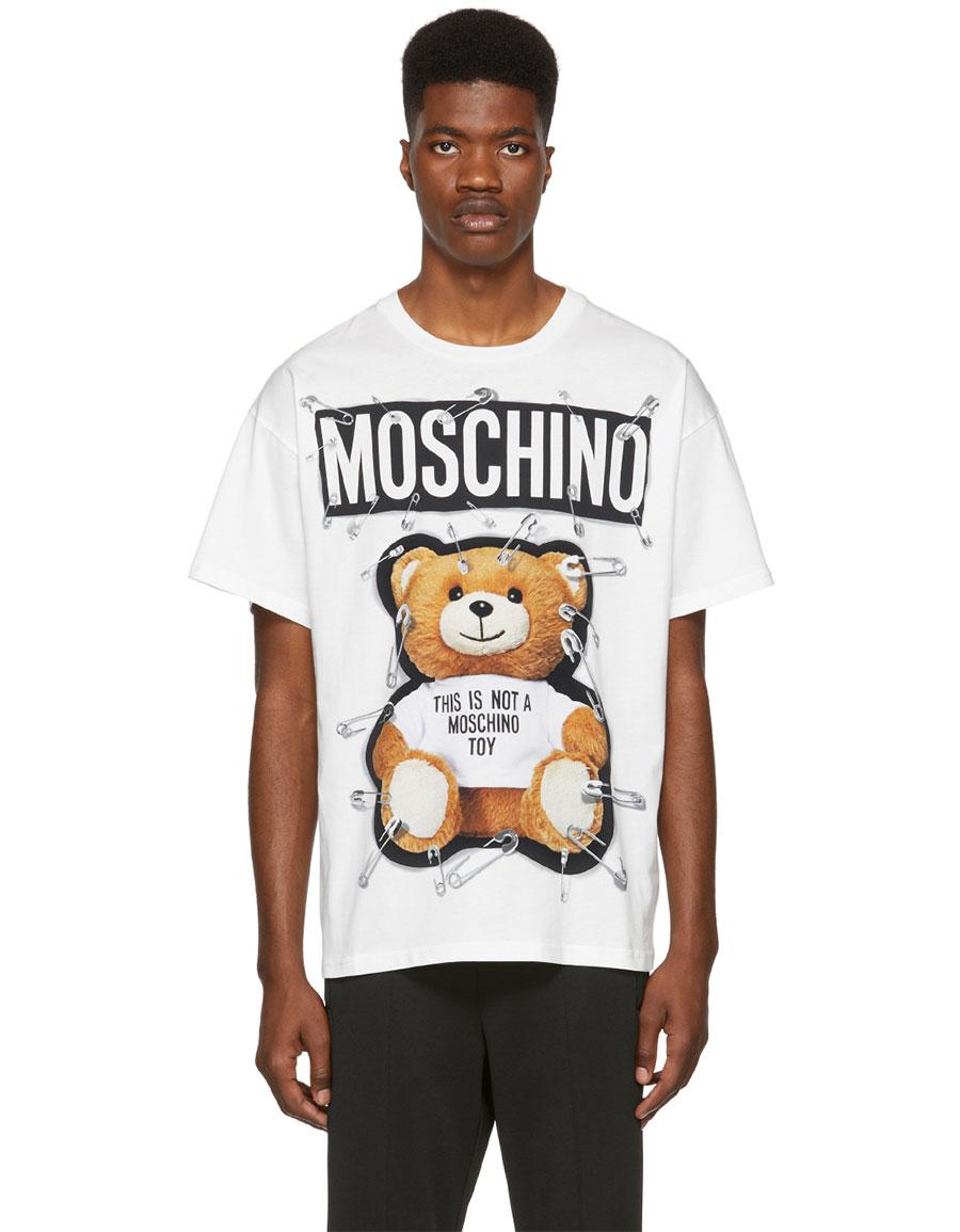 ea87568151 MOSCHINO White Teddy Bear T-Shirt · VERGLE